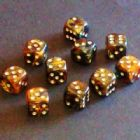 12mm Magma Spot Dice - Amber